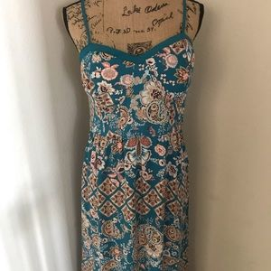 Beautiful Blue Flower Maxi Dress
